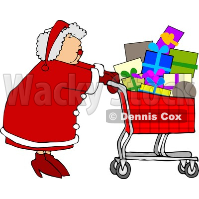 Shopping Cart Full Of Christmas Presents Clipart   Dennis Cox  5165