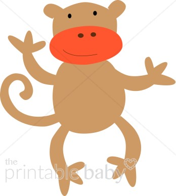 Silly Monkey Clipart   Baby Clipart