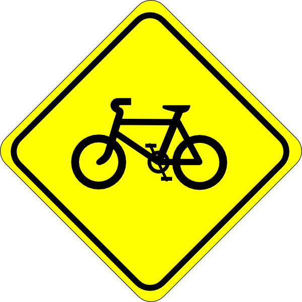 Watch For Bicycles Sign Clip Art At Clker Com   Vector Clip Art Online