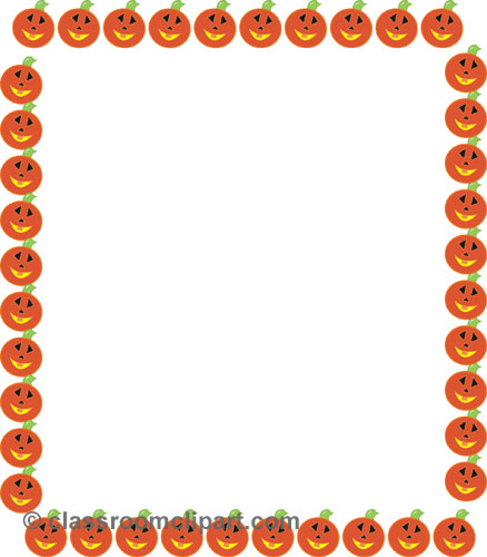 Borders   Pumpkin Rectangle Border   Classroom Clipart