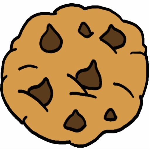 Cartoon Clipart Huge Chocolate Chip Cookie Dessert Standing Photo