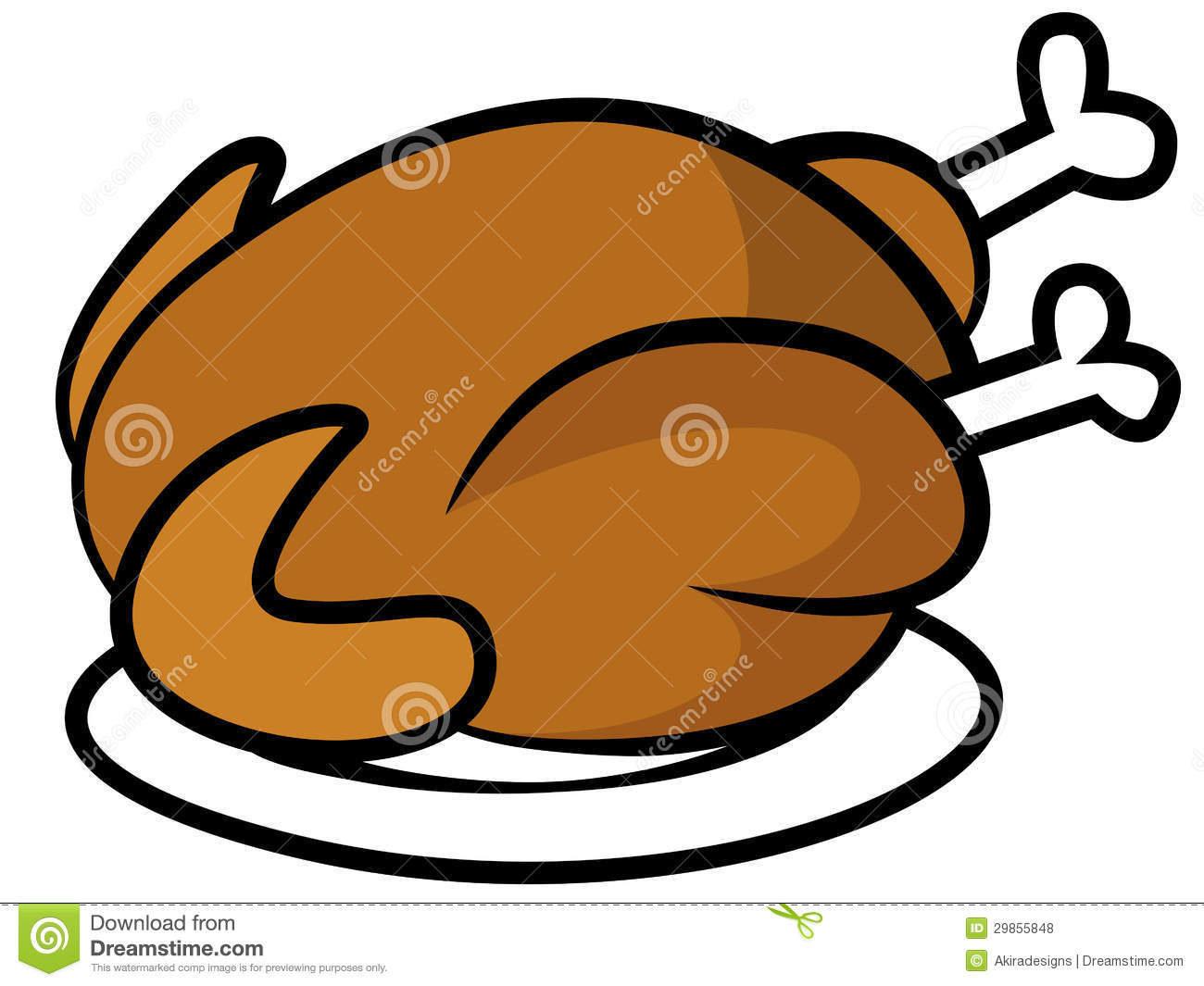 free clipart chicken dinner - photo #17