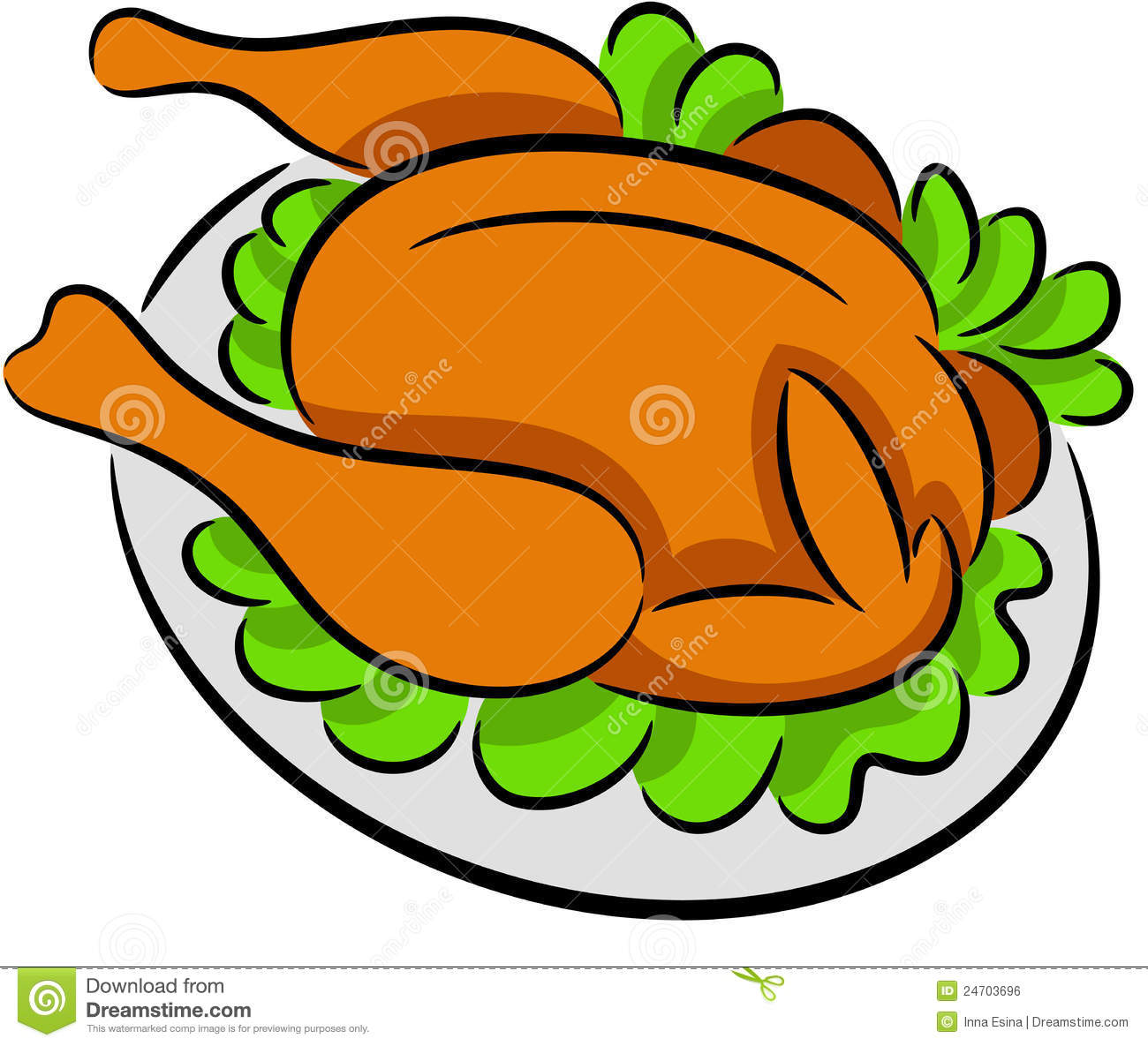 free clipart chicken dinner - photo #14