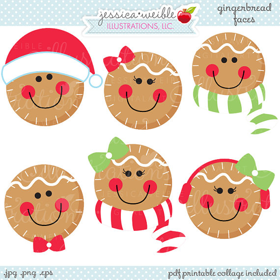 Cute Christmas Digital Clipart Commercial Use Ok Christmas Clipart