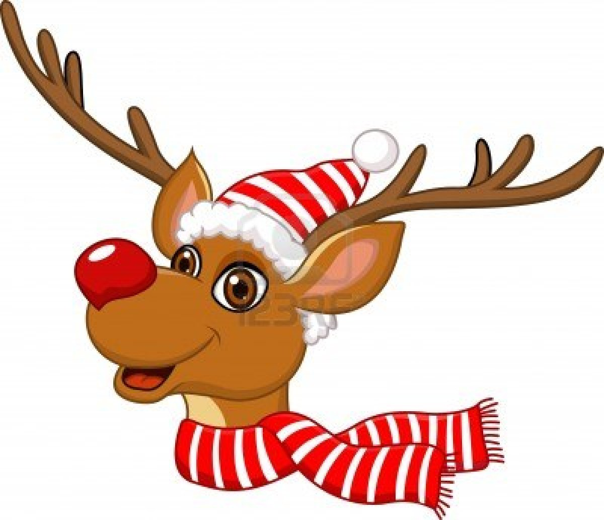 Cute Christmas Reindeer Clipart Images   Pictures   Becuo