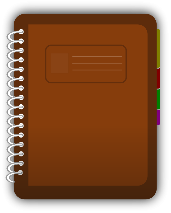 Diary Book Clipart Large Size