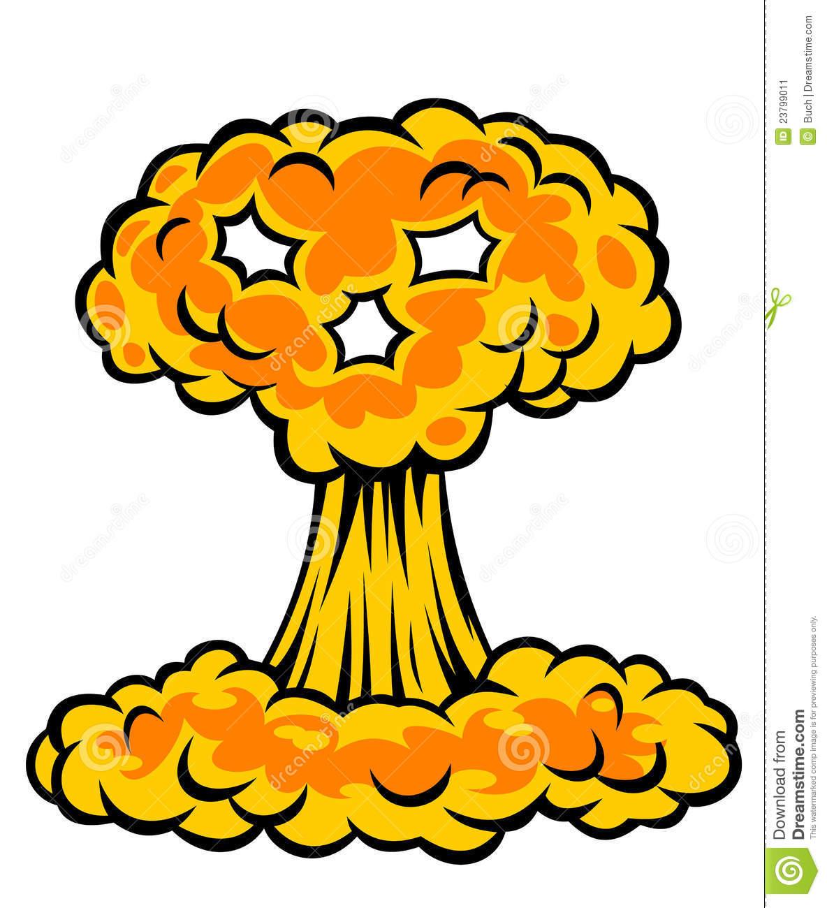 Mushroom Cloud Clipart - Clipart Kid