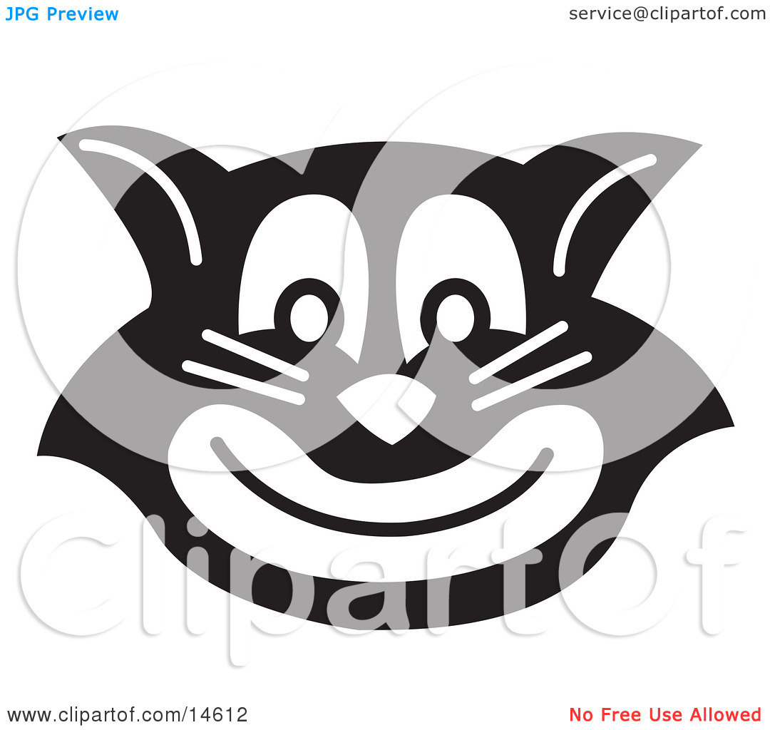 Evil Black Cat Grinning Clipart Illustration By Andy Nortnik  14612