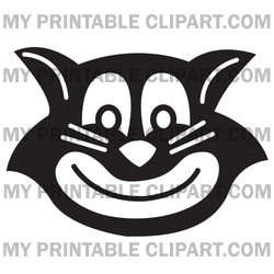 Evil Black Cat Grinning Clipart Illustration   Image 14612 By Andy