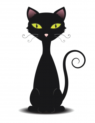 Fat Evil Black Cat Clipart