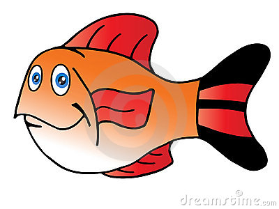 Fish Fin Clipart Cute Fish Red Fin 14345103 Jpg