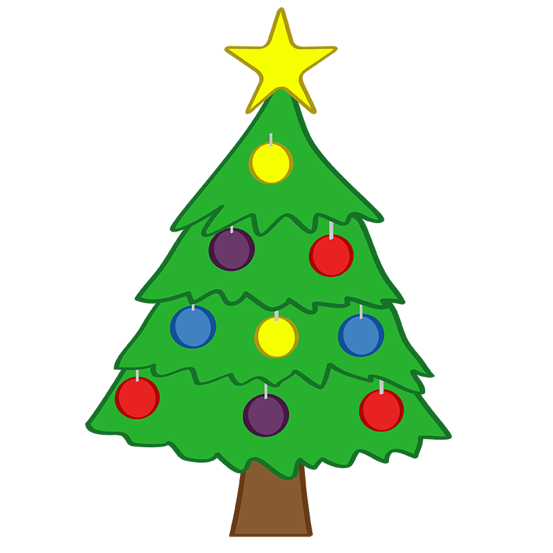 cute christmas tree clipart clipart suggest