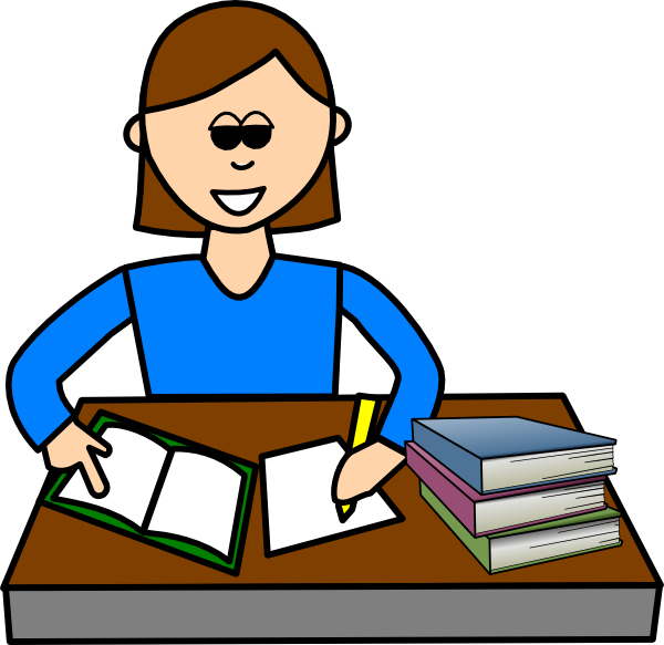 Girl Writing In Diary Clipart Study Hi Png
