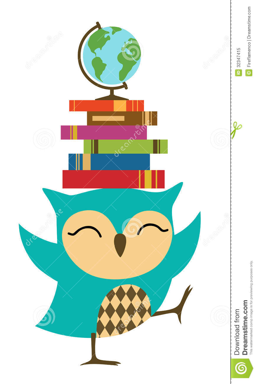 Happy Little Owl   Back To School Royalty Free Stock Photo   Image