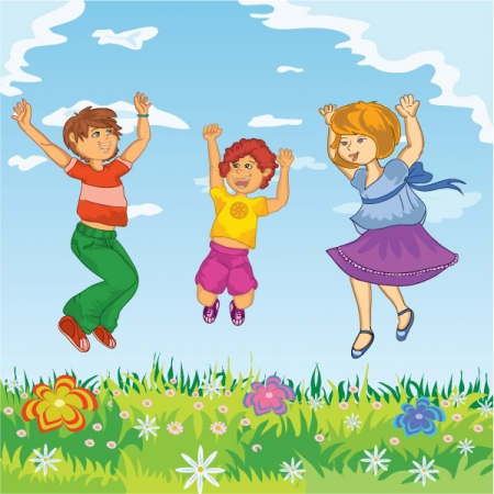 Happy Person Jumping Clipart Home   People