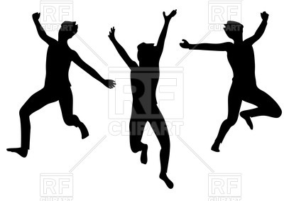Happy Person Jumping Clipart     Of Happy Jumping