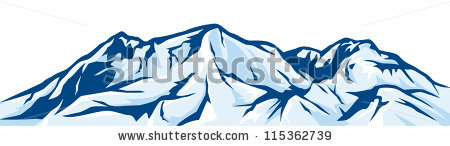 Illustration Of Mountain Landscape Snowy Mountain Range 115362739 Jpg
