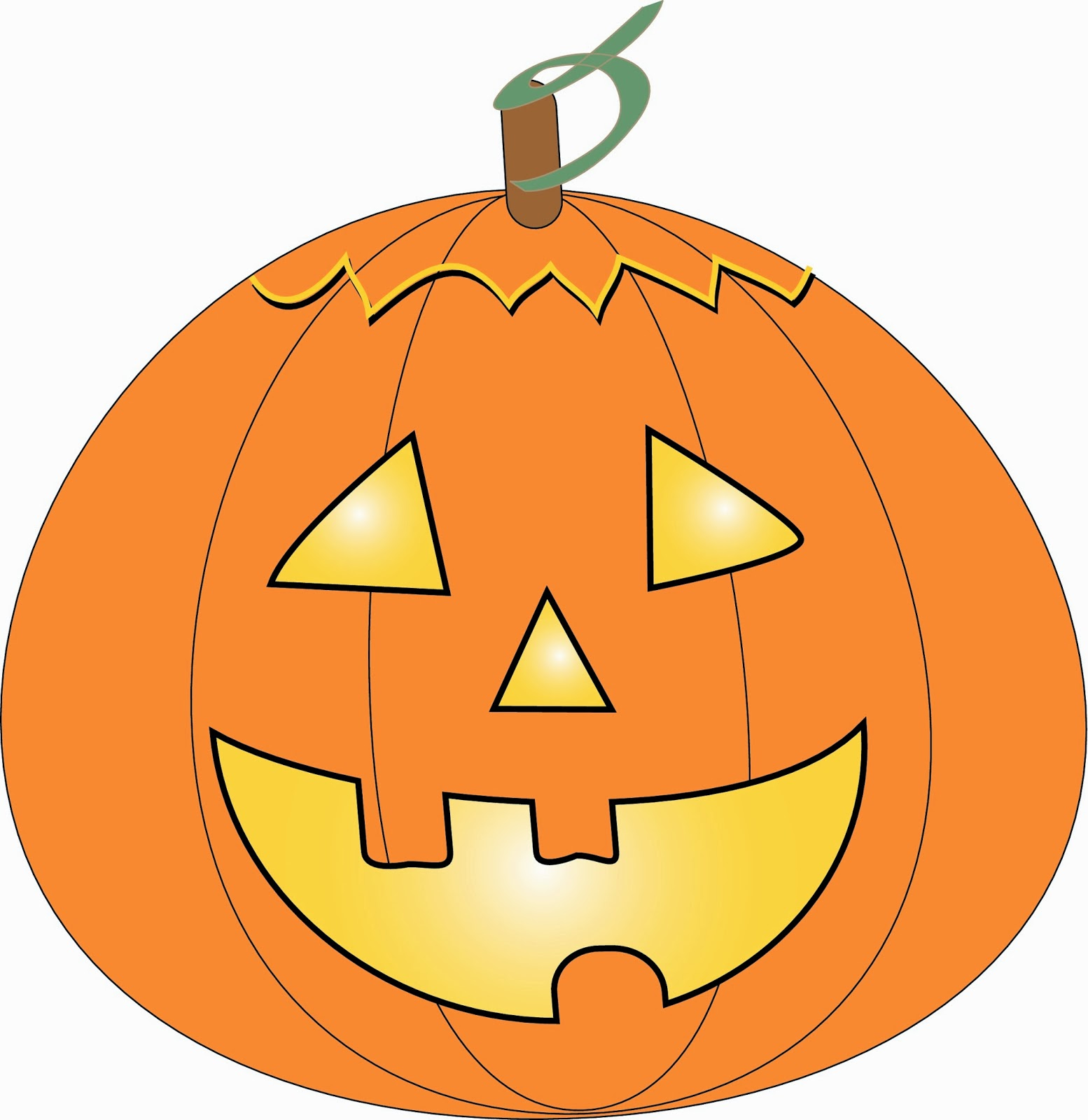 jack o lantern faces clip art - photo #10
