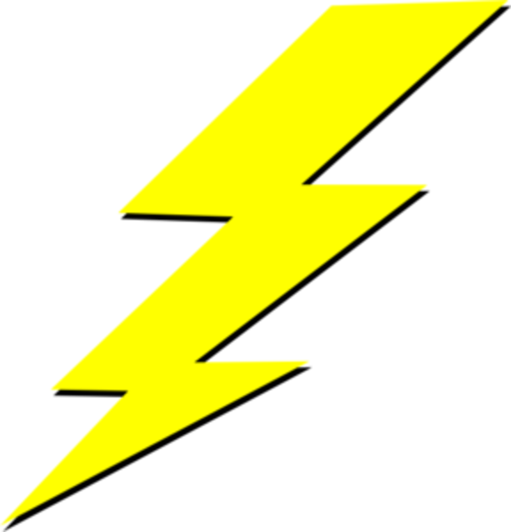 Cartoon Lightning Bolt Clipart - Clipart Kid
