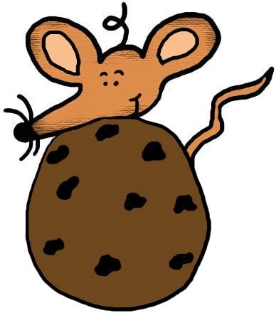 Mouse With Chocolate Chip Cookie Clipart Picture