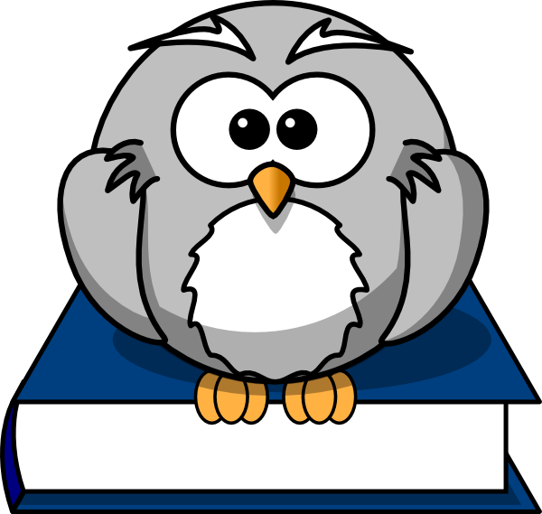 Owl On Book Clip Art At Clker Com   Vector Clip Art Online Royalty