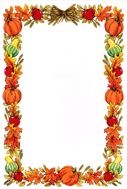 Pumpkin Page Border Hawaiian Page Borders