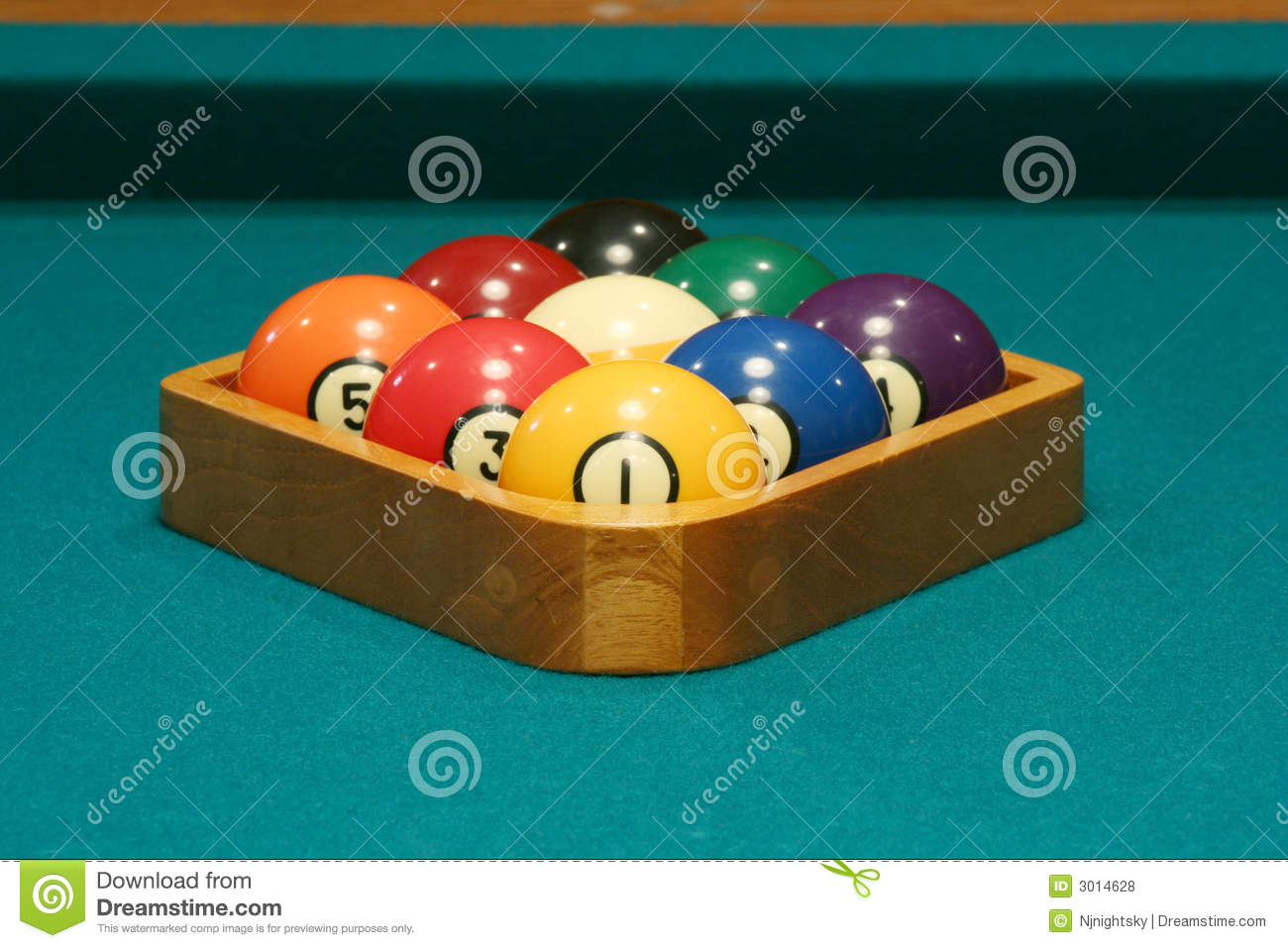 Racked Balls Set For A Game Of 9 Ball