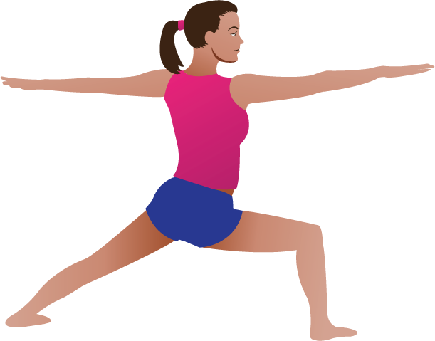 Yoga Pose Lady   Clipart Fort