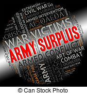 Army Surplus Represents Military Service And Armies Stock Illustration