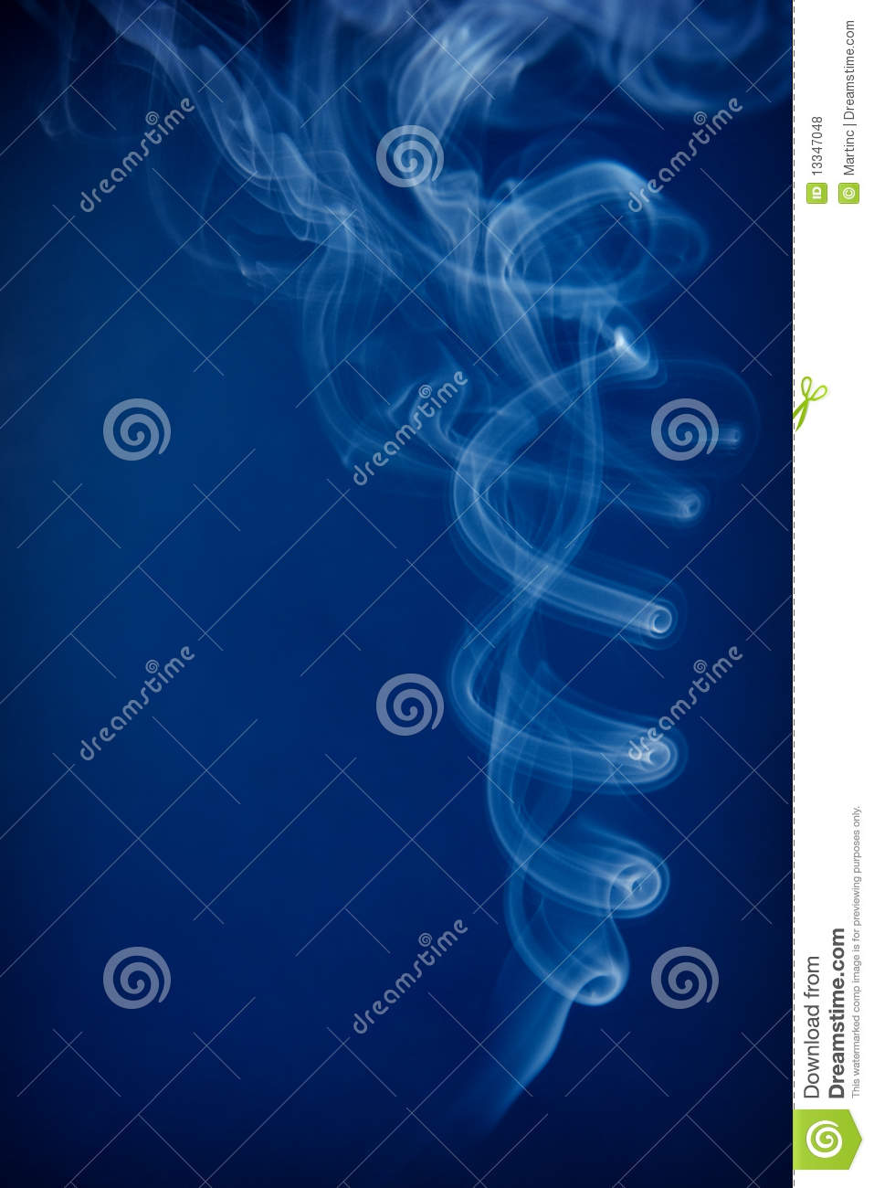 Blue Smoke On A Dark Background