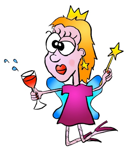 Chardonnay The Drunk Fairy Clipart