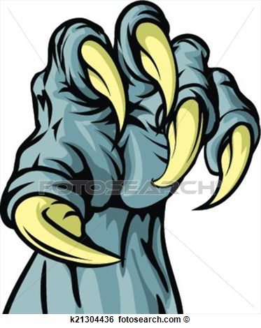Clip Art   Monster Animal Claw  Fotosearch   Search Clipart