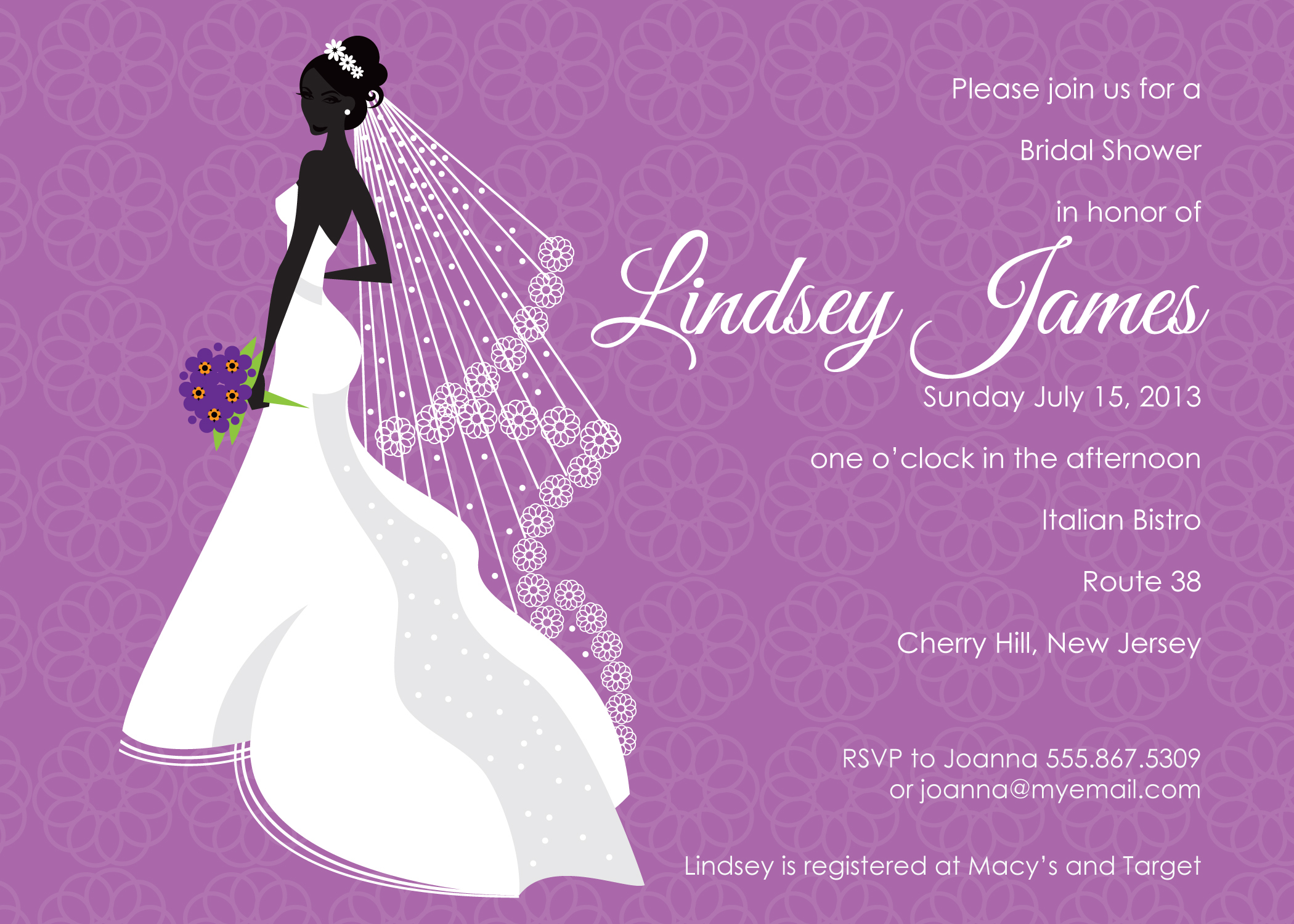 purple bridal shower clipart  clipart kid, Bridal shower invitations