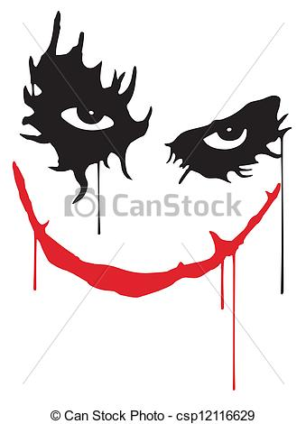 Face Of The Joker From The Batman Movie Csp12116629   Search Clipart