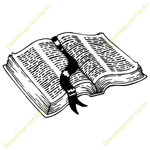 Open Bible Clipart - Clipart Kid