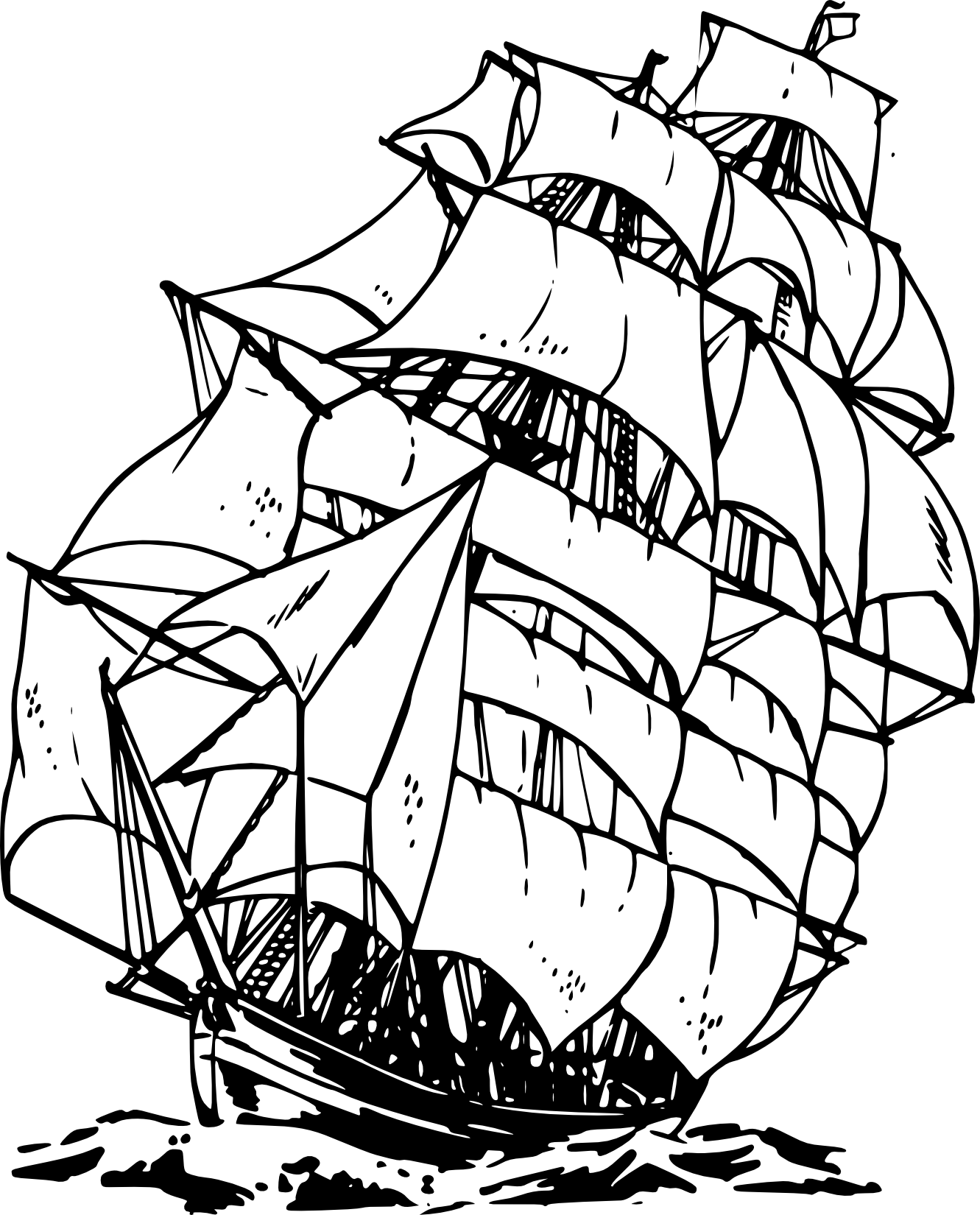 Pirate Ship Clipart Black And White   Clipart Panda   Free Clipart