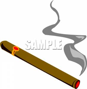 Plume Clipart A Long Brown Cigar With A Plume Smoke From The End