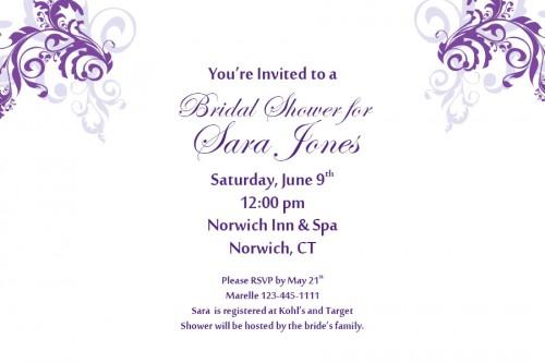Purple Bridal Shower Clipart - Clipart Kid