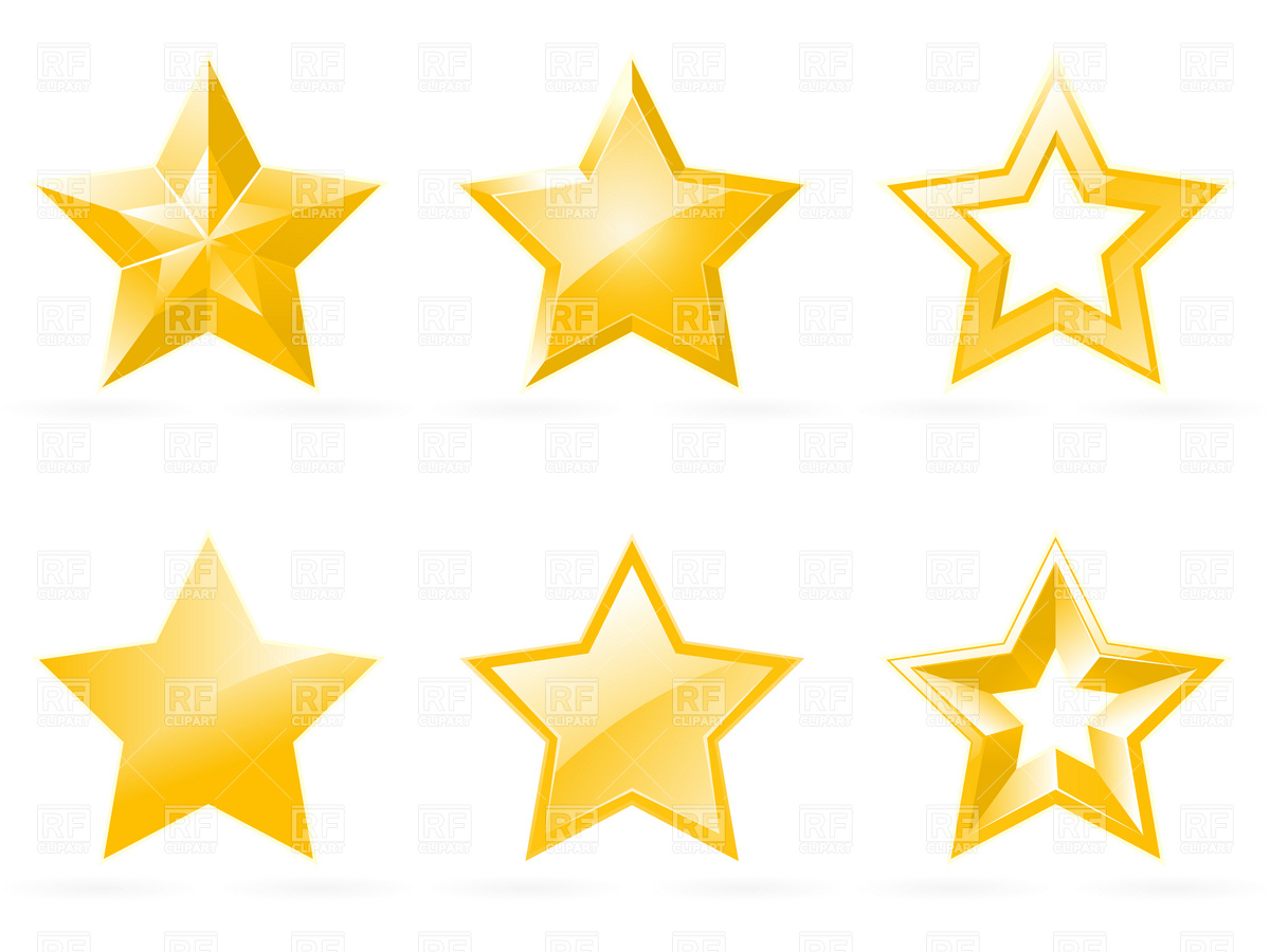 Set Of Shiny Star Icons Download Royalty Free Vector Clipart  Eps