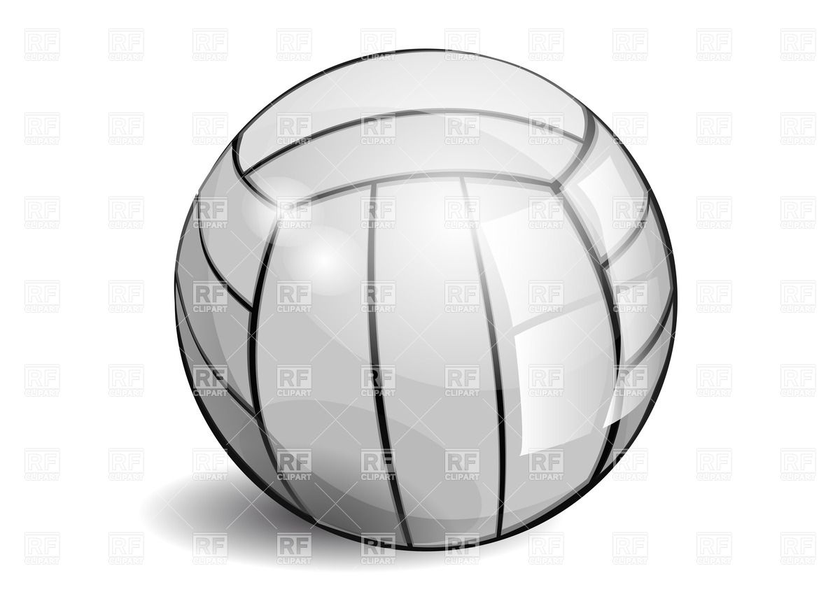 Shiny Volleyball Isolated On A White Background Download Royalty Free