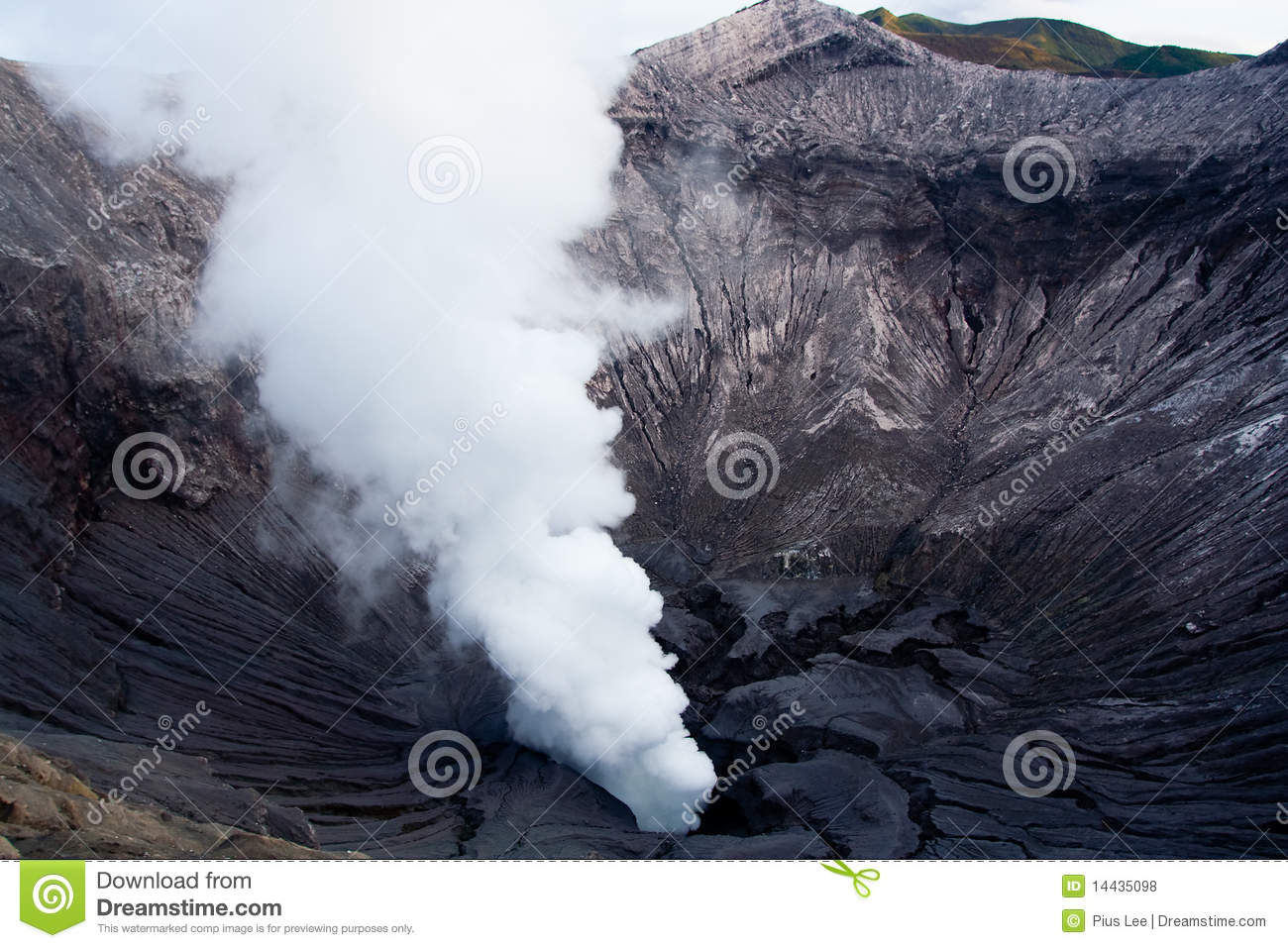 Smoke Plume Of Mt  Bromo Royalty Free Stock Photos   Image  14435098