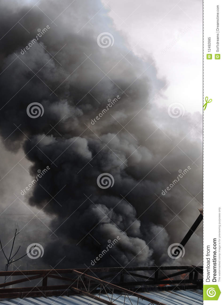 Smoke Plume Royalty Free Stock Photo   Image  12492685