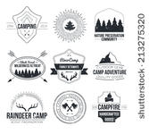 Tent Antlers  National Parks And Nature Exploration Symbols