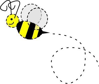Bee With Trail Clipart   Free Clip Art Images