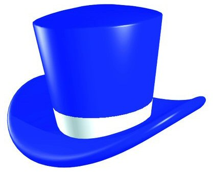 Blue Top Hat Clipart - Clipart Kid