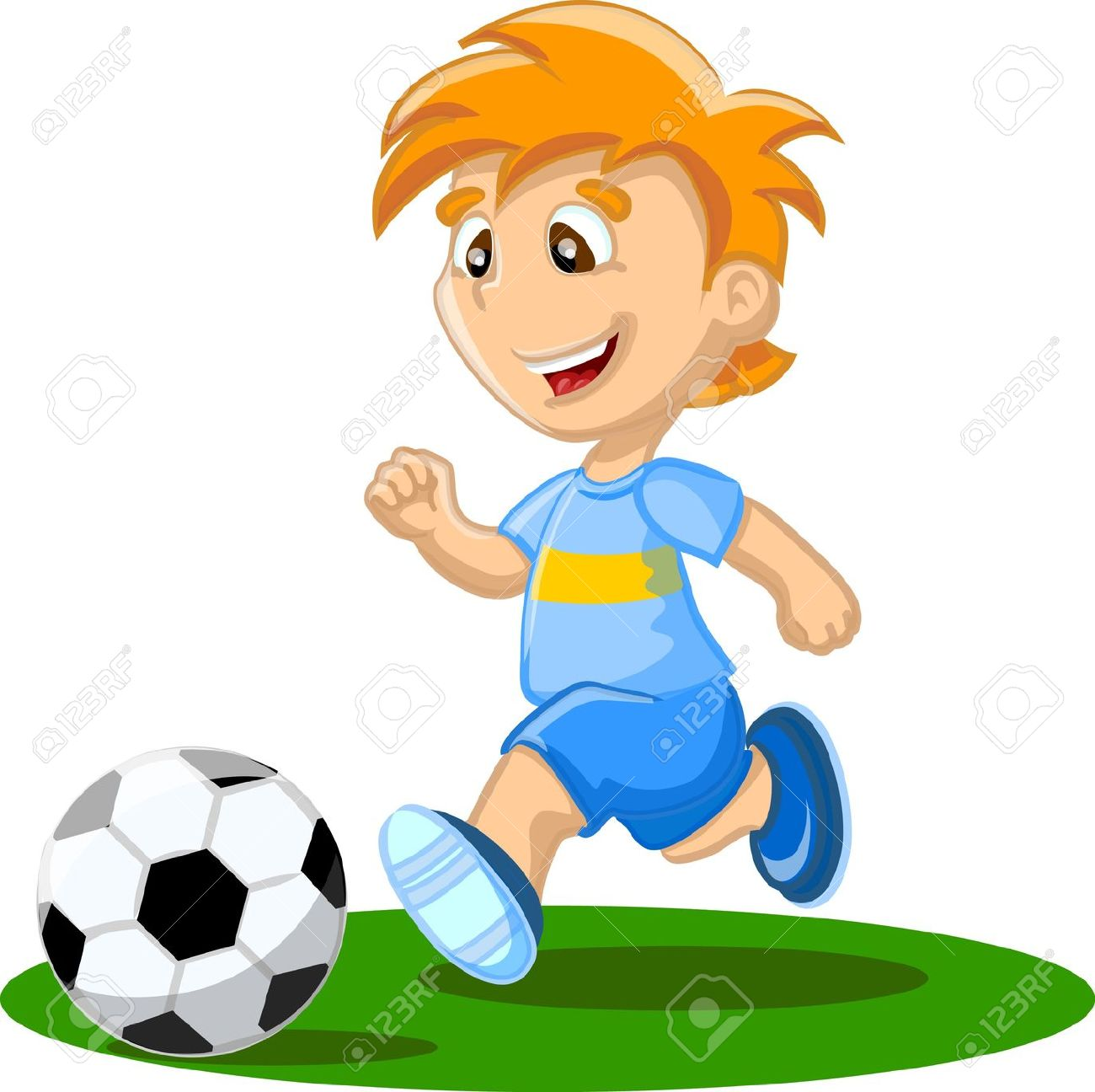 Boys Playing Sports Clipart