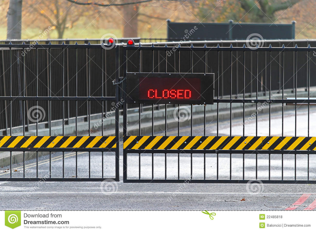 closed gate royalty free stock photos image 22485818