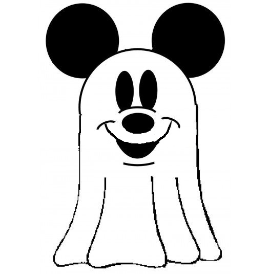 Disney Mickey Mouse Halloween Ghost Coloring Pages For Kids   Coloring