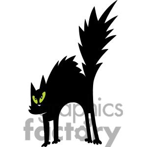Halloween Black Cat Clipart   Clipart Panda   Free Clipart Images