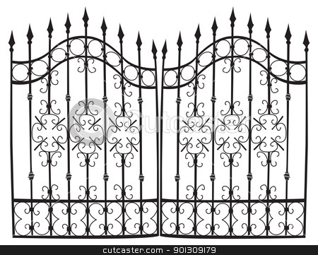 Iron Gate Full Vector Stock Vector Clipart Highly Detail Vectorized